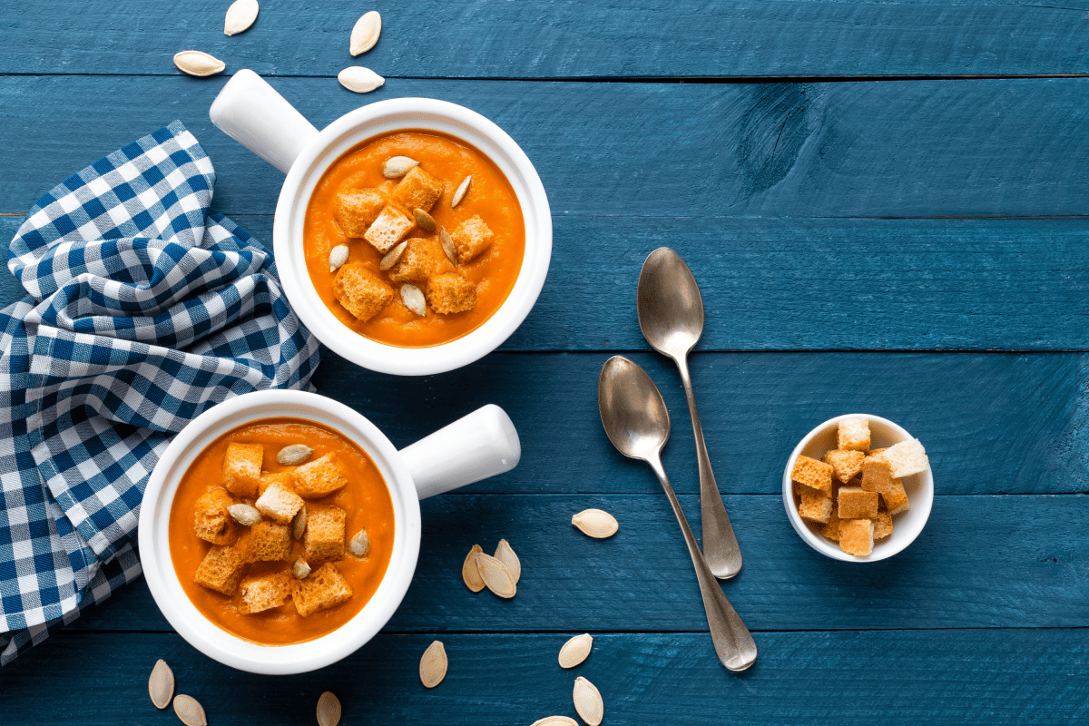 Seasonal Roast Pumpkin Soup Recipe from the Edinburgh New Town Cookery School