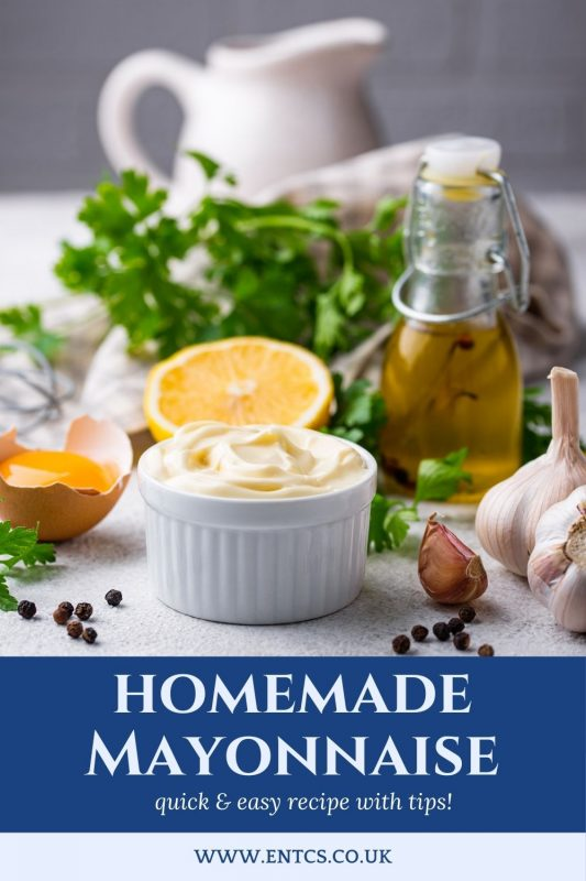 Pinnable Homemade Mayonnaise Recipe from ENTCS
