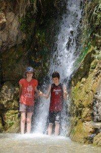 Wasserfall am Nahal David, En Gedi