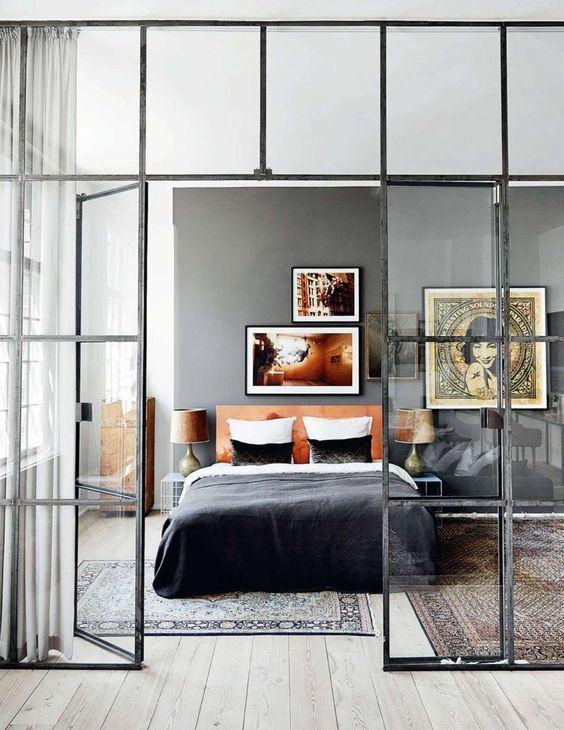 estilo-industrial-na-decoracao-entenda antes, estilo de decoração, quarto com estilo de decoração industrial