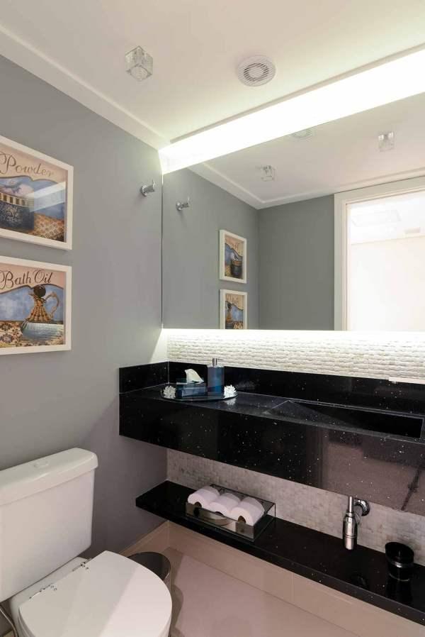 pia de banheiro com granito stellar