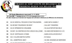 Tirage au sort de la Coupe de Belgique