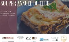 Souper/Soirée du club ce samedi 21 Avril 2018