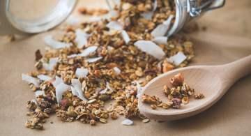 receta de granola, receta de granola economica, como hacer granola, granola casera, como preparar granola nutritiva, como hacer granola facil y rapido, como se prepara la granola horneada, recetas con granola