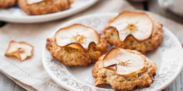 galletas de avena veganas, galletas veganas de avena y manzana, galletas de avena y manzana, galletas de avena, galletas de avena saludables, galletas de avena y cerezas