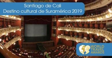 Santiago de Cali gana el título «Destino cultural de Suramérica 2019» 🗺🥇🎉