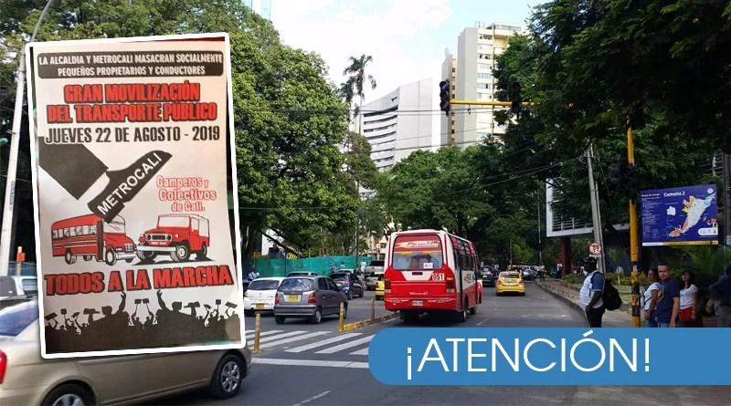 Detalles de la movilización y manifestación del transporte público para mañana