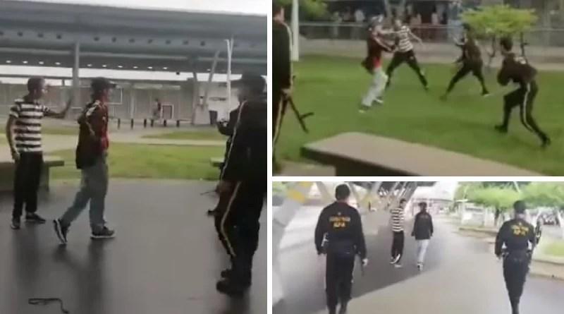 Así quedó la herida del guarda de seguridad en la estación del MIO