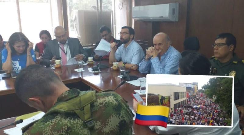 Las autoridades garantizarán la seguridad en el Paro Nacional