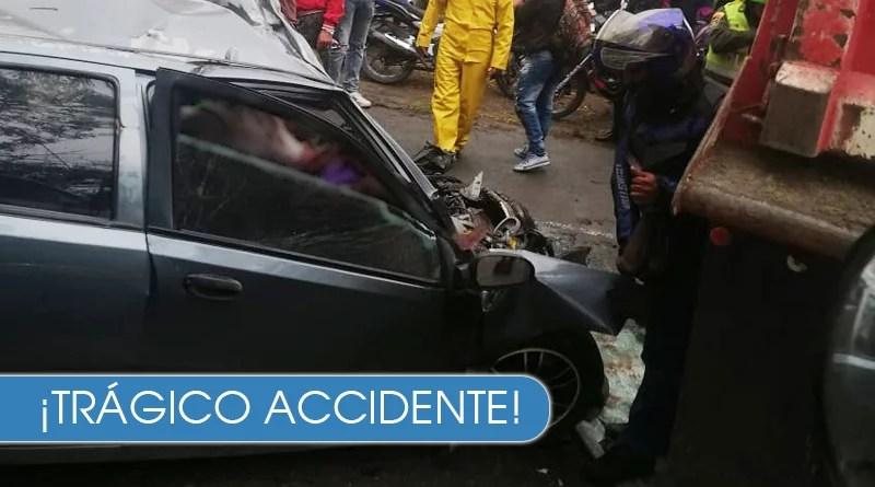 Grave accidente deja 4 personas sin vida en la vía Cali - Candelaria