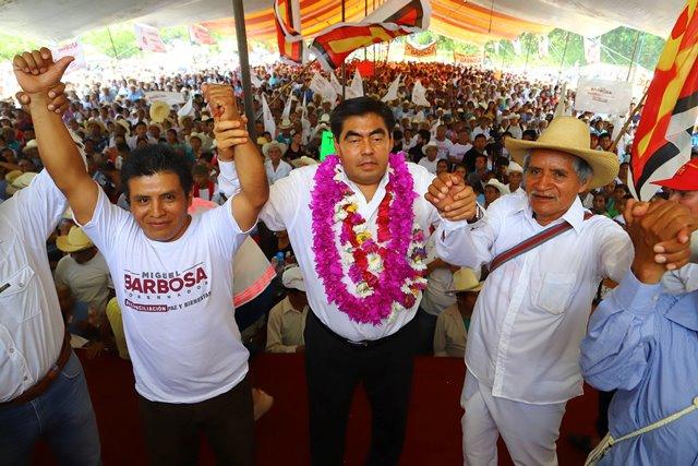 EN MI GOBIERNO LOS PUEBLOS ORIGINARIOS SERÁN PRIORIDAD, SE LES DEBE HACER JUSTICIA: MIGUEL BARBOSA