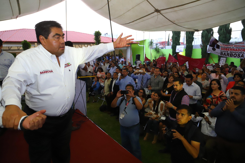 PROTEGER Y REACTIVAR A LOS MICROEMPRESARIOS, OFRECE MIGUEL BARBOSA HUERTA