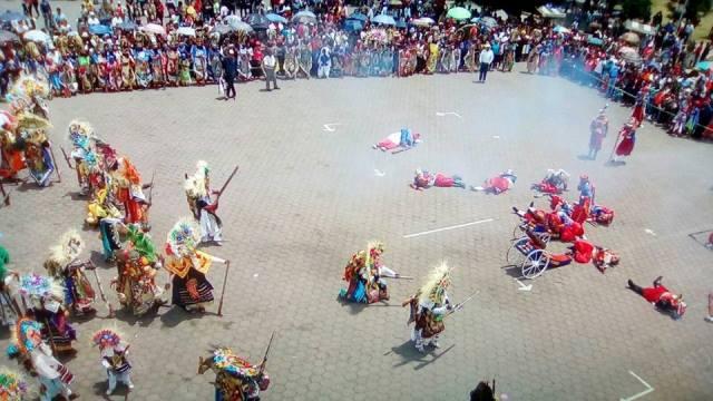 REVIVEN BATALLA DEL 5 DE MAYO EN HUEJOTZINGO