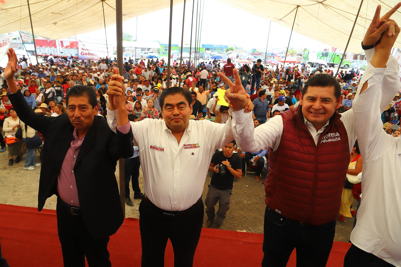 RESTAURAR LA SEGURIDAD PÚBLICA EN HUIXCOLOTLA, COMPROMISO DE MIGUEL BARBOSA