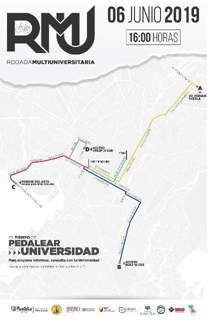 CON MOTIVO DEL DÍA MUNDIAL DE LA BICICLETA, AYUNTAMIENTO PUEBLA PROMUEVE RODADA MULTIUNIVERSITARIA