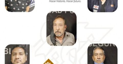 """DETIENE SSP A SIETE PRESUNTOS INTEGRANTES DE LA BANDA CONOCIDA COMO """"LOS DE LA BOLITA"""""""