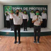PROTESTA DE COMITÉ MUNICIPAL DEL PVEM EN AMOZOC, PUEBLA