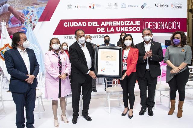 AYUNTAMIENTO DE PUEBLA, OFICIALIZA INGRESO A LA RED DE CIUDADES DEL APRENDIZAJE