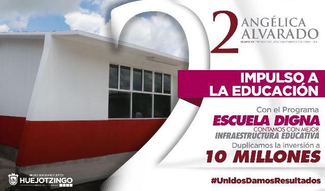EDUCACIÓN DE CALIDAD, PIEDRA ANGULAR DEL GOBIERNO QUE ENCABEZA ANGÉLICA ALVARADO