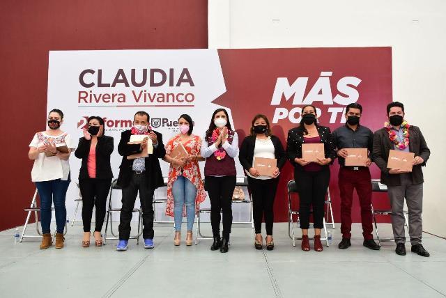 CLAUDIA RIVERA VIVANCO INFORMA A VECINOS DE SAN APARICIO, XOCHIMEHUACÁN Y SAN JERÓNIMO AVANCES DE DOS AÑOS