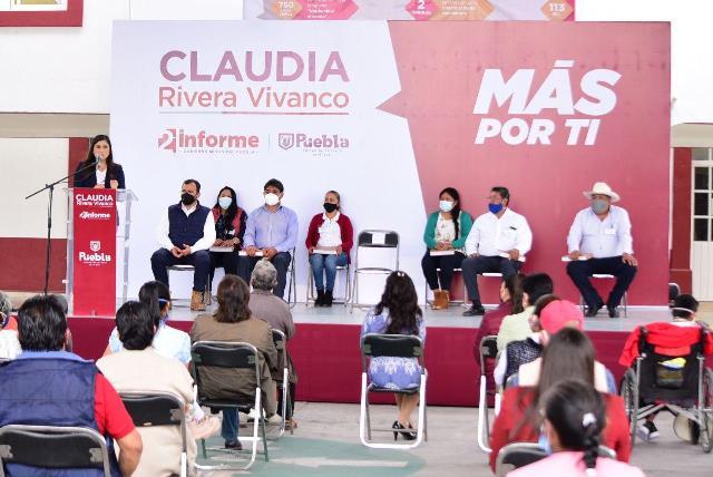 CLAUDIA RIVERA VIVANCO RINDE CUENTAS EN CANOA, LA RESURRECCIÓN Y XONACATEPEC