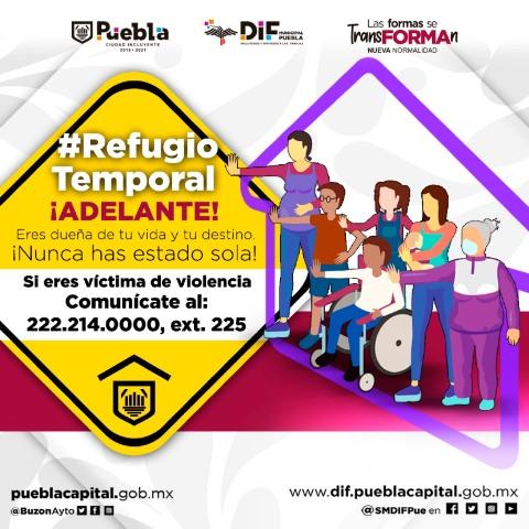 AYUNTAMIENTO DE PUEBLA RESPALDA A MUJERES VÍCTIMAS VIOLENCIA, CON REFUGIO TEMPORAL Y ACOMPAÑAMIENTO INTEGRAL