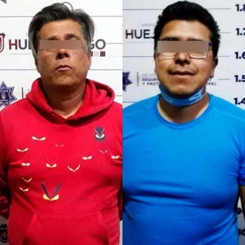 POLICÍAS ESTATALES DETIENEN  EN HUEJOTZINGO A DOS PROBABLES RESPONSABLES DE EXTORSIÓN Y LESIONES