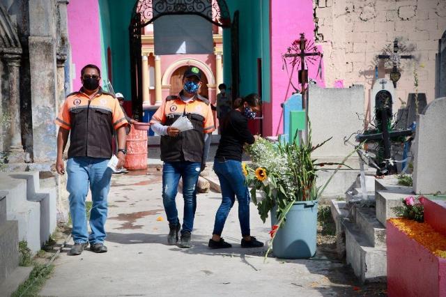 SE REPORTA SALDO BLANCO DURANTE LAS CELEBRACIONES DE DÍA DE MUERTOS EN HUEJOTZINGO