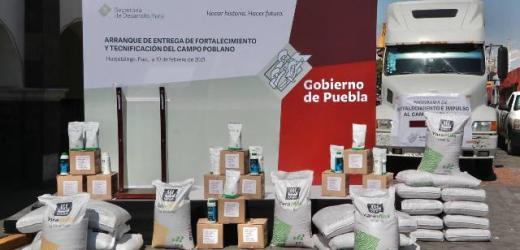 EN HUEJOTZINGO, EL GOBERNADOR MIGUEL BARBOSA ENCABEZA ARRANQUE DEL PROGRAMA DE FORTALECIMIENTO Y TECNIFICACIÓN DEL CAMPO POBLANO