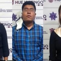 DETIENE POLICÍA MUNICIPAL DE HUEJOTZINGO A PRESUNTOS RESPONSABLES DE ROBO A CASA HABITACIÓN