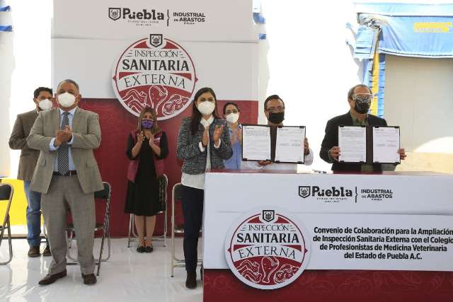 RASTRO DE PUEBLA FIRMA CONVENIO CON EL COLEGIO DE MEDICINA VETERINARIA PARA INSPECCIÓN EN CARNICERÍAS