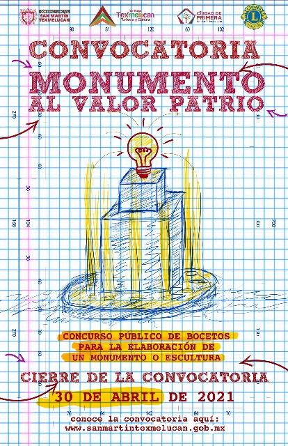 """GOBIERNO DE TEXMELUCAN LANZA CONVOCATORIA """"MONUMENTO AL VALOR PATRIO"""""""