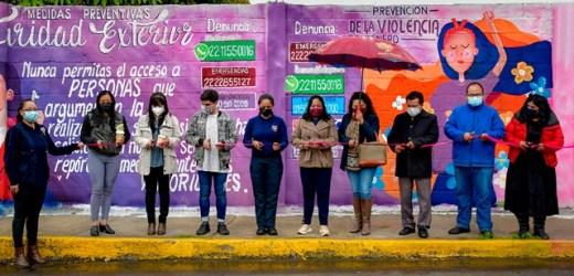 ENTREGA LUPITA DANIEL 6 MURALES ALUSIVOS A LA PREVENCIÓN DEL DELITO Y LA VIOLENCIA CONTRA LA MUJER