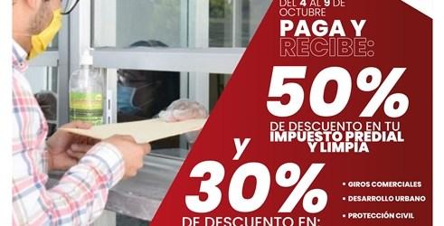 EN CUAUTLANCINGO, PAGA TU IMPUESTO PREDIAL Y OBTÉN EL 50% DE DESCUENTO