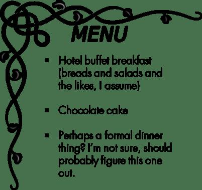 Day 10 menu
