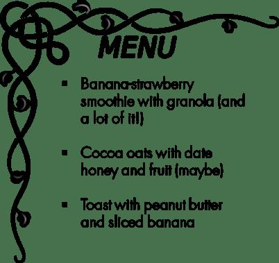 Day 9 menu
