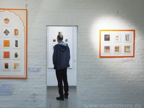 mini print exhibition event art installation mixed media Germany, music, color, art meditation, relaxation