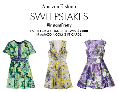 Amazon Fashion #InstantPretty Sweepstakes