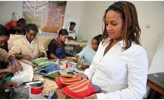 Bethlehem in a SoleRebels Ethiopian store Photo Credit: Ventures Africa