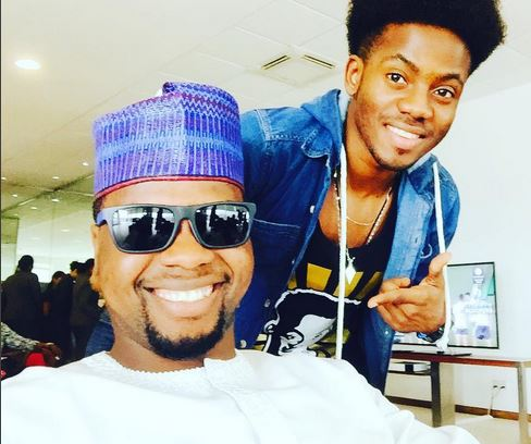 Adebola Williams with Korede Bello