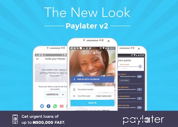 With Paylater, you can now borrow up to ₦500,000 in 3days