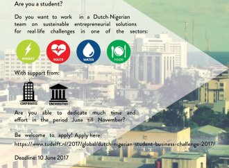 Nigerian students: Apply for the Dutch-Nigeria Student Business Challenge '17
