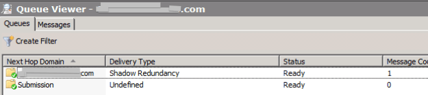 Microsoft Exchange Queue Viewer - nothing stuck in queues