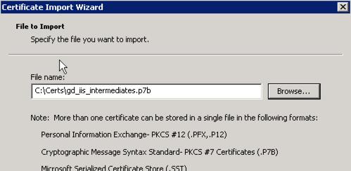 intermediate cert file