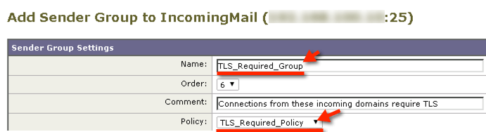 tis required sender group