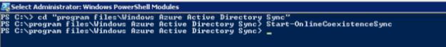 Start-OnlineCoexistenceSync