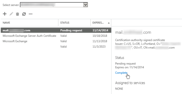 install certificate on Exchange 2013 - [SOLVED] enterprise IT
