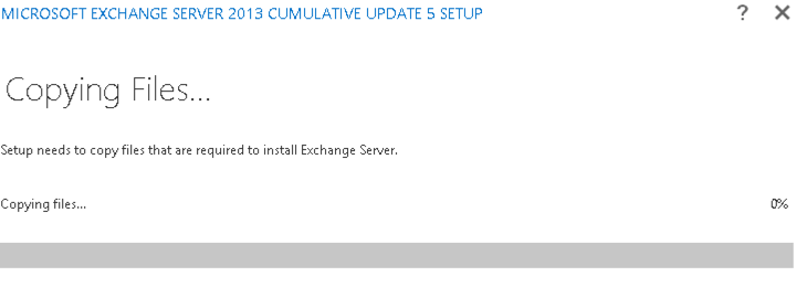 Upgrade existing Exchange 2013 installation to CU15 step