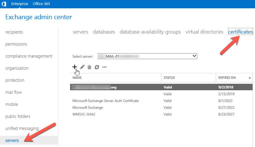 Create Certificate Request Csr On Exchange 2016 Solved
