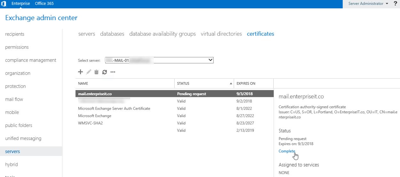 Install Ssl Certificate On Exchange 2016 Solved Enterprise It